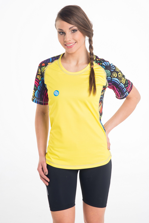 Koszulka Do Biegania Damska Yellow Spin