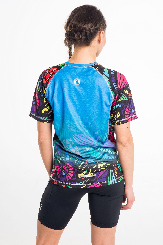 Koszulka Do Biegania Damska Blue Spin