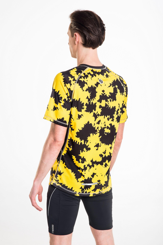 Koszulka Do Biegania Męska Yellow Ink