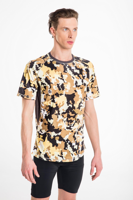 Koszulka Do Biegania Męska Brown Puzzles