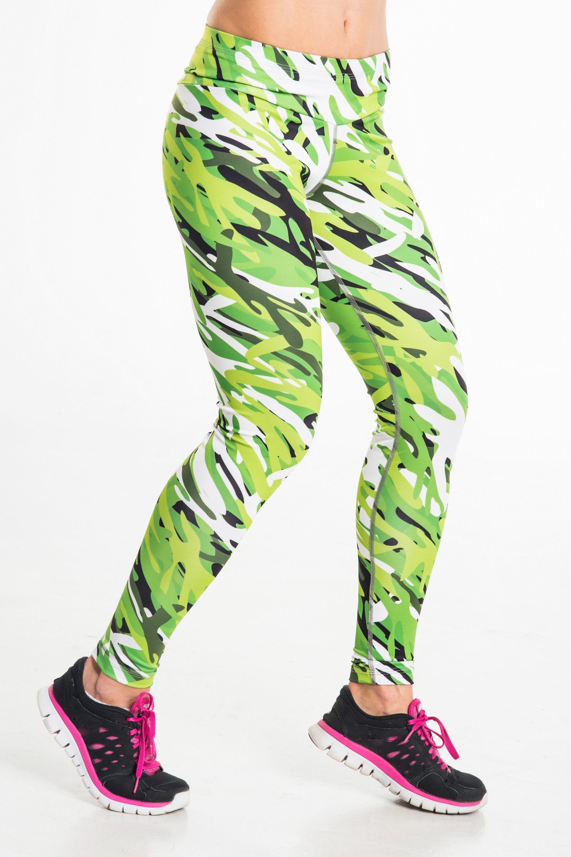 Legginsy Green Flourishes